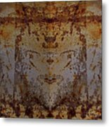 The Rusted Feline Metal Print