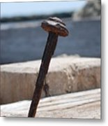 The Rusted Spike Metal Print