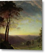 The Sacramento River Valley  Metal Print by Albert Bierstadt