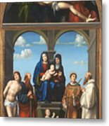 The Saint Anne Altarpiece From San Frediano Lucca Metal Print