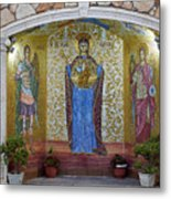 The Saints Are Waiting By The Parking Place Metal Print