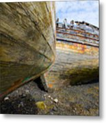 The Salen Wrecks Metal Print
