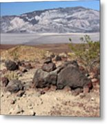 The Salt Flats Of Death Valley Metal Print by Christine Till