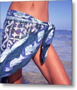 The Sarong Metal Print