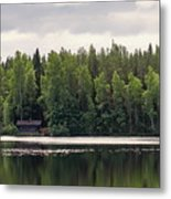 The Sauna Of Kintulammi Metal Print