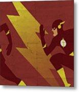 The Scarlet Speedster Metal Print