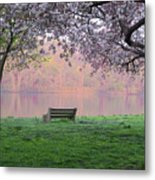 The Schuykill River At Kelly Drive In The Spring Metal Print