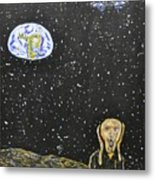 The Scream And Planets  Metal Print