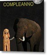 The Scream World Tour African Elephant Happy Birthday Italian Metal Print