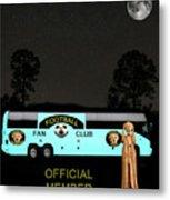 The Scream World Tour Football Tour Bus Metal Print by Eric Kempson