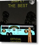 The Scream World Tour Football Tour Bus Simply The Best Metal Print