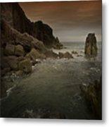 The Sea And The Rocks Metal Print