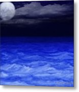 The Sea At Night Metal Print by Gina Lee Manley