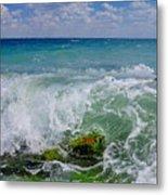The Sea Breathes Metal Print
