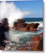 The Sea Explodes Metal Print
