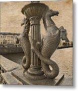 The Seahorses 3 Sepia Metal Print