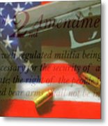 The Second Amendment Metal Print