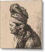 The Second Oriental Head Metal Print