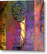 The Secret Behind That Door Metal Print