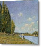 The Seine At Billancourt Metal Print
