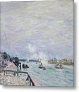 The Seine At Grenelle  Metal Print