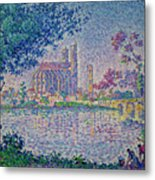 The Seine At Mantes, By Paul Signac, 1899-1900, Kroller-muller M Metal Print