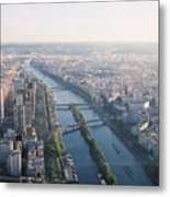 The Seine River In Paris Metal Print