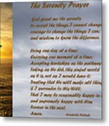 The Serenity Prayer Metal Print by Barbara Snyder