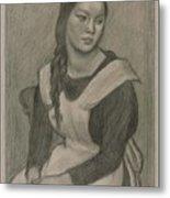 The Servant Girl Painting Metal Print