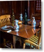 The Set Table Metal Print