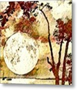 The Setting Moon Metal Print