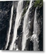 The Seven Sister Waterfall Metal Print