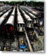 The Seven Train Yard Queens Ny Metal Print