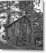 The Shack In Black And White Metal Print