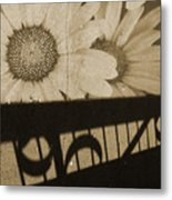 The Shadow Flowers Metal Print