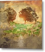 The Shadow Of Olives Metal Print