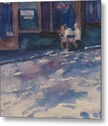 The Shady Side Of The Street Metal Print