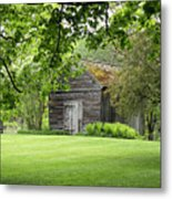 The Shed In The Trees Metal Print