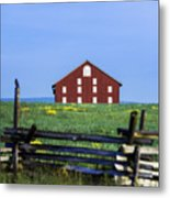 The Sherfy Farm At Gettysburg Metal Print