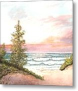 The Shore Metal Print