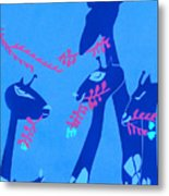 The Short Necked Giraffe 1 Metal Print