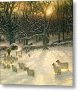 The Shortening Winters Day Is Near A Close Metal Print