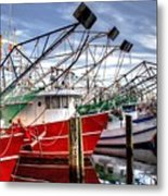 The Shrimpers Salute Metal Print