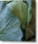 The Shy Cabbage The Keg Room Old English Hunter Green Metal Print