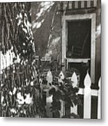 The Side Yard Garden Metal Print