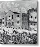 The Siege Of The Alamo Metal Print