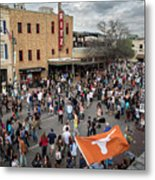 The Sights And Sounds Of Sxsw Are Enormous From 6th Street As Thousands Of Revelers Fill The Streets Metal Print