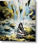 The Silence Of The Waterfall 2 Metal Print