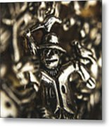 The Silver Strawman Metal Print