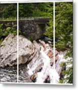 The Sinks Smoky Mountains Triptych Metal Print